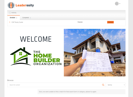 The Home Builder Organization used a learning management system for nonprofits to standardize onboarding for employees.
