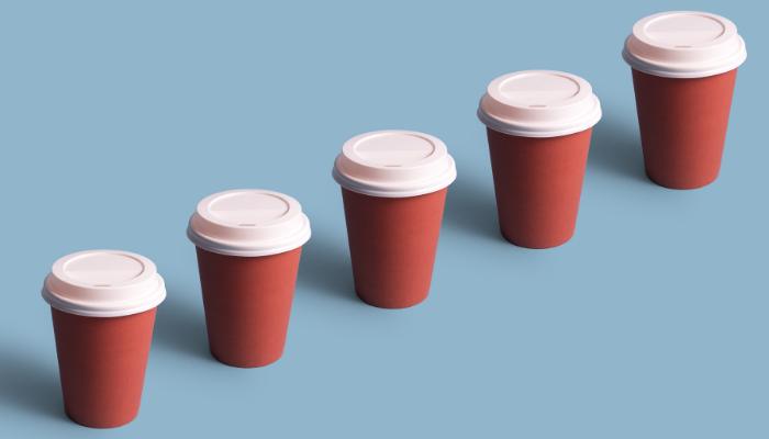 What do 320 billion coffee cups look like?