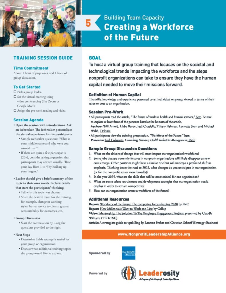 Creating a workforce of the future