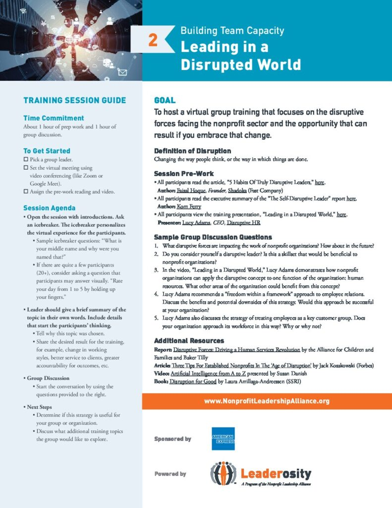 Leading in a Disrupted World